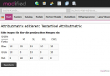 Testartikel Attributmatrix
